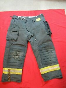 Morning Pride Fire Fighter Turnout Pants 44 X 31 Black Bunker Gear Rescue