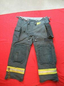 Morning Pride Fire Fighter Turnout Pants 44 X 32 Black Bunker Gear Rescue