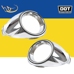 For 2012 2013 Ford Focus Front Bumper Fog Lights Chrome Cover Trim Replacement