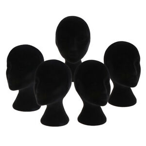 5 Pcs Piece Styrofoam Female Mannequin Head Model Display Stand This Wig