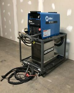 Miller Xmt 304 Tig Welder Package With Chiller Torch Pedal Ground ships Free
