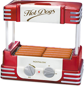 Hot Dog Bun Warmer Machine Stainless Steel Heat Cooker Rollers Retro Grill New