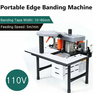 Portable Woodworking Edge Banding Machine 0 3 3mm Thick Bevel 10 60mm Width 110v