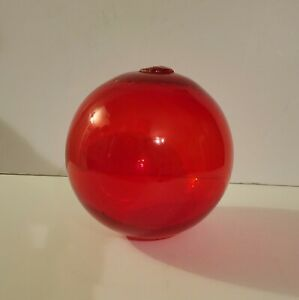 Vintage Fishing Float Buoy Glass Ball Nautical Decor 6 Red Hand Blown