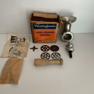 50s Westinghouse Food Meat Grinder Assembly Fg 91 For Westinghouse Mixer Fm 81