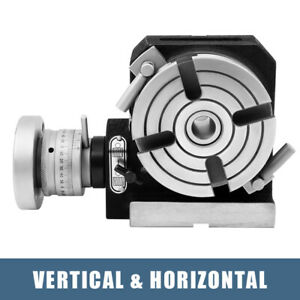 4 Inch 100mm Quality Rotary Table Horizontal Vertical Model milling Machine