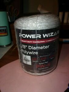 Power Wizard Pw 4 Polywire 1 8 Electric Fence Wire 1312 Ft Silver Nip