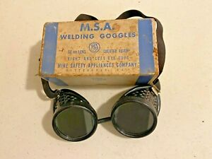 Vintage M s a 50mm Lens Welding Goggles W box