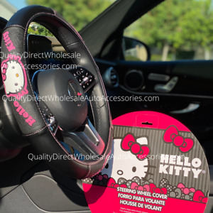 Official Licensed Hello Kitty Sanrio Pink Steering Wheel Cover
