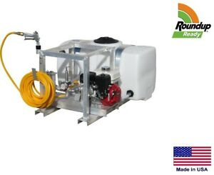 Sprayer Commercial Skid Mounted 7 Gpm 150 Psi 50 Gallon Roundup Ready