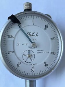 Vintage Teclock Shock Proof Dial Indicator 001 1 0 Ai 921 Made In Japan
