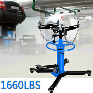 A 1660 Lbs Transmission Jack 2 Stage Hydraulic W 360 For Car Lift 0 75 Ton Us