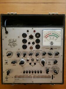 Hickok Model 750 Dynamic Mutual Conductance Tube Tester Calibrated W Manual