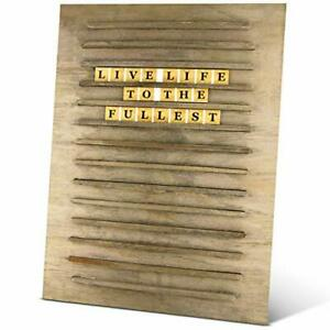 Wooden Message Board With Letters 103 Wooden Letters Tiles 12x16 In Size
