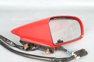 C4 Corvette Side Rear View Power Mirror Heated Right Side Torch Red 1988 1996