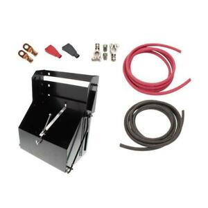 Car Battery Relocation Kit W steel Drop out Box