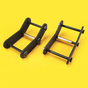 Front Rear 2 Shackle Relocation Lift Kit Jeep Wrangler Yj 1987 1995