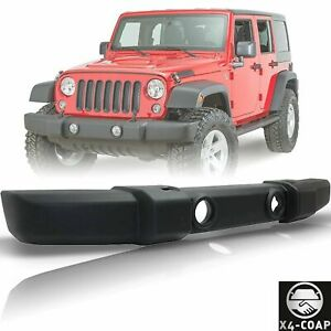 Front Textured Bumper Cover With Fog Light Holes For 2007 2017 Jeep Wrangler Jk