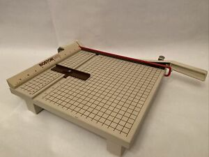 Boston 2612 Paper Cutter With Guide 12 Trimmer Heavy Duty Guillotine