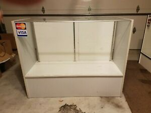 2 Glass Countertop Display Case Fixtures 4 And 6 Foot 100 For Both