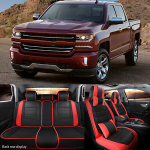 Car 5 Seat Leather Seat Covers Frontrear For Chevrolet Silverado 1500 Lt 53l Fits 2009 Lt