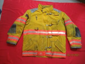 Lion Body Guard 46 X 32r Drd Firefighter Turnout Bunker Gear Jacket Coat Tow
