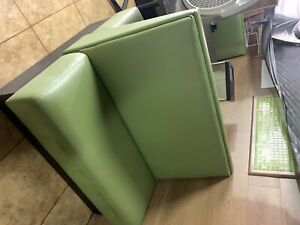Restaurant Double Booth Used Just One Year Old And Hardly Used Light Green