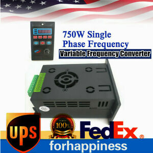 220v 750w Single Phase 3 phase Variable Frequency Drive Converter Motor Vfd 1hp