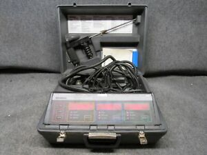 Bacharach Combustion Analyzer Model 300 With Case powers On