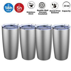 Camping Coffee Cup 20oz Double Wall Insulated Stainless Steel Sport Mug Tumbler $29.81