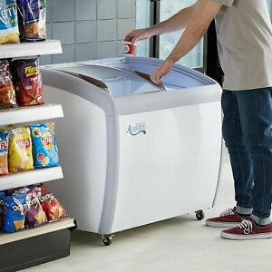 36 Ice Cream Glass Store Freezer 6 7 Cu Ft Showcase Display Commercial New