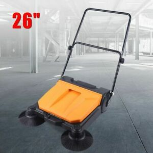 360 Degree Spinning Rotate Hand Push Sweeping Sweeper 26 Industrial Sweeper