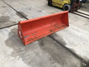 Unused Kubota L2273 72 Front End Loader Bucket For Compact Tractor