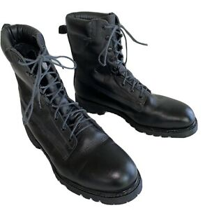 Wildland Firefighter Boots Black Leather Size 13 Wide Made In Usa Worn Once