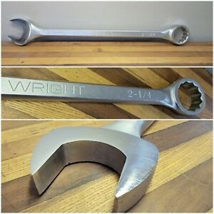 Wright 1172 Combination Wrench 2 1 4 Nice Shape
