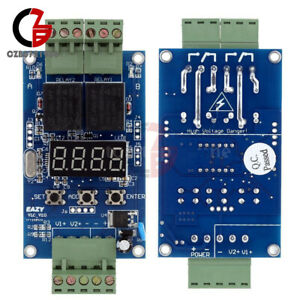 2x 12v 2ch Programmable Relay Control Board Cycle Delay Timer Switch Module
