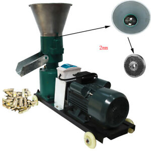 Update Chicken Feed Pellet Mill Machine 2mm 220v For Animal Cubs Free Shipping