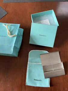 Tiffany co Sterling Silver 925 Business Card Holder Streamerica New Unused