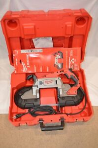 Milwaukee 6232 20 Deep Cut Variable Speed Band Saw hard Case 2 Blades Used Once