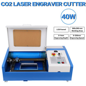 12 x8 40w Co2 Laser Engraving Cutting Machine Engraver Cutter With 4 Wheels