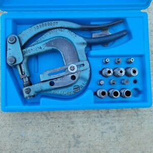 Roper whitney No Xx Sheet Metal Hand Punch Kit With Case Punches