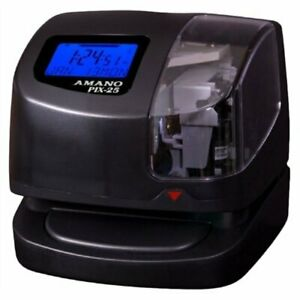 Amano Pix 25 Portable Time Clock date Stamp