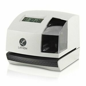 Lathem 100e Multi function Electronic Time Clock And Document Stamp Can Be