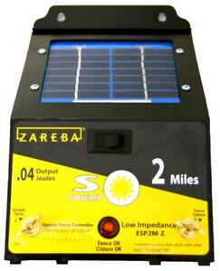 New Zareba Energizer Esp2m z 2 mile Solar Powered Electric Fence Charger 6841308