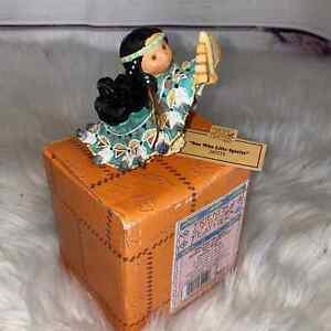 Friends Of The Feather One Who Lifts Spirits Indian With Eagle Figurine Enesco