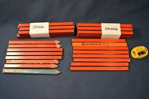 Shop Mechanic Tool Wooden Pencils 40 Count plus Sharpener New Used red