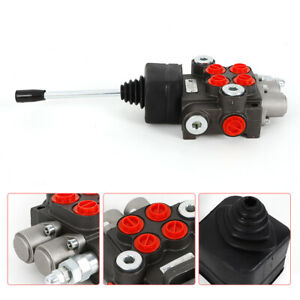 11gpm Hydraulic Directional Control Valve Tractor Loader 2 Spool w joystick Used