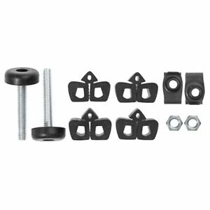 New 64 Early 65 Mustang Hood Bumper Amp Adjusters Bumpers 10 Pc Kit 957 Fits 1965 Mustang