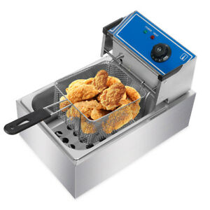Deep Fryer 10l Commercial Bench Top Fast Fryer Stainless Steel 2500w Electric