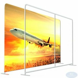 Straight Booth Show Tension Fabric Ez Tube Display Wall Stand Frame 8 x10